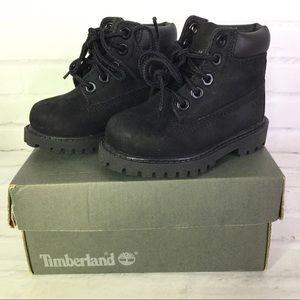 Timberland Toddler Boys Girls Size 4 Boots Black